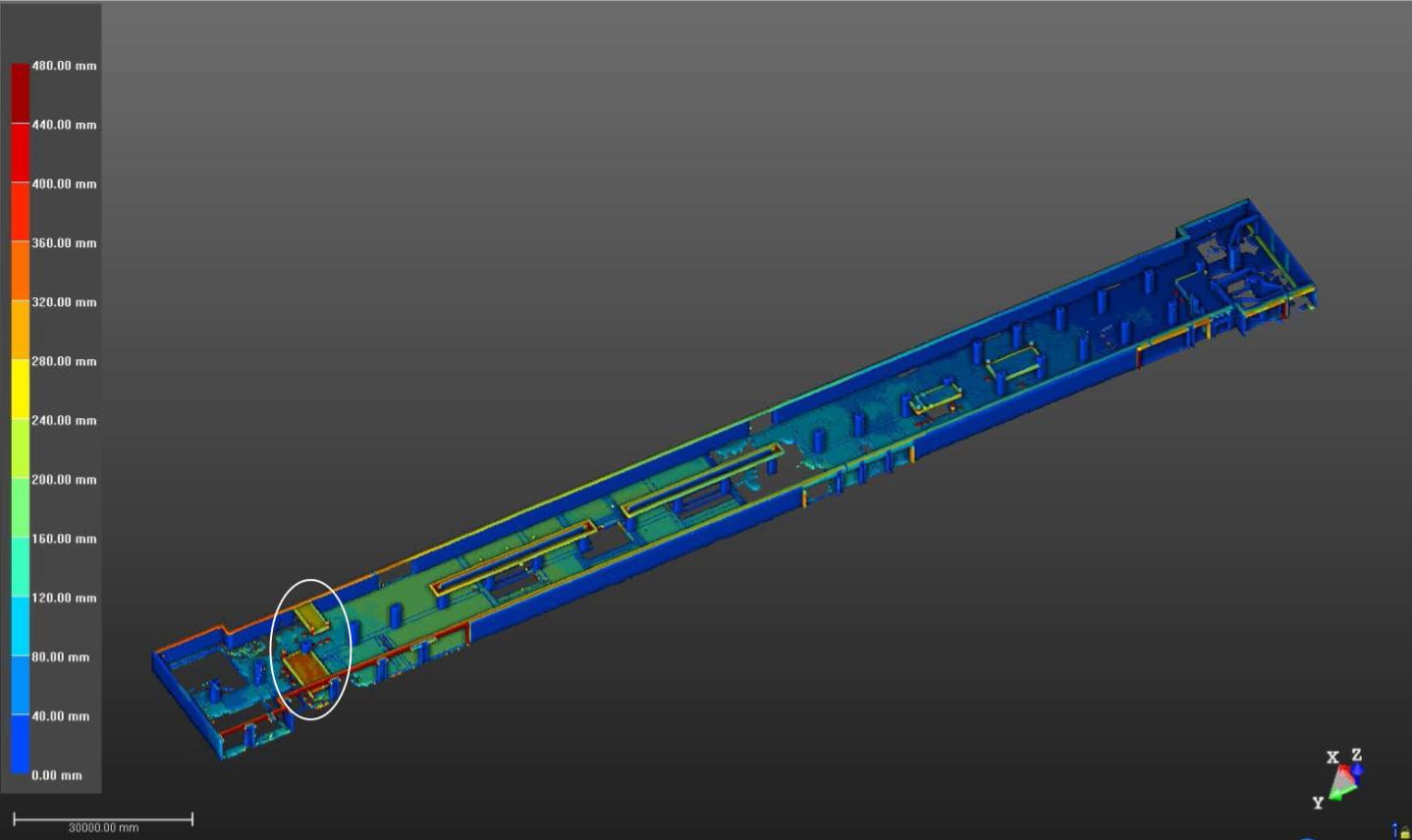 激光扫描-地铁结构检测